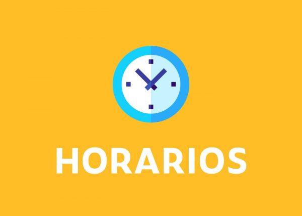 HORARIOS SEMANA 8 AL 12 MARZO E INFORMACIONES