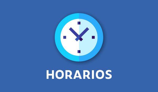 HORARIOS 20 AL 24 DE SEPTIEMBRE