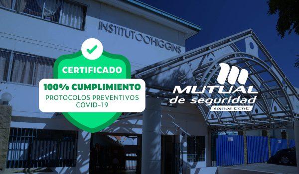 Instituto O'Higgins de Maipú Recibe Sello Mutual de Seguridad Covid-19