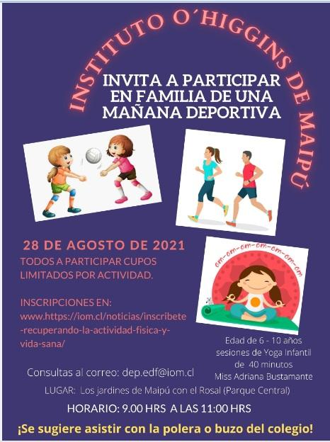 INVITACIÓN ACTIVIDAD DEPORTIVA FAMILIAR